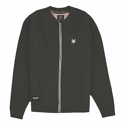 Logo Mens Sizes S,M,L,XL Bomber Zip Jacket Burgundy Zoo York
