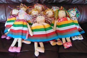 """Agressif 10 X Nouveau 14"""" Traditional Handmade Rag Dolls – Assorted Designs-afficher Le Titre D'origine"""