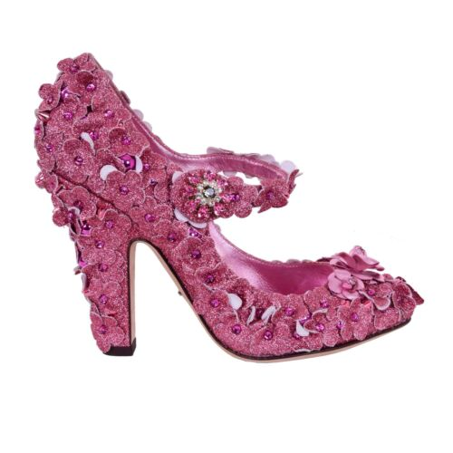 Princess Glitter Cinderella Studded 06958 Mary Pumps Pink DolceGabbana Jane bv7IYgyf6