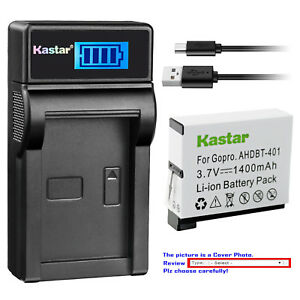 Kastar-Battery-LCD-Charger-for-Gopro4-GoPro-AHDBT-401-GoPro-AHBBP-401-Battery