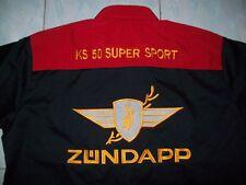 NEU ZÜNDAPP KS 50 SUPER SPORT Fan-Hemd schwarz/rot shirt blouse camisa chemise