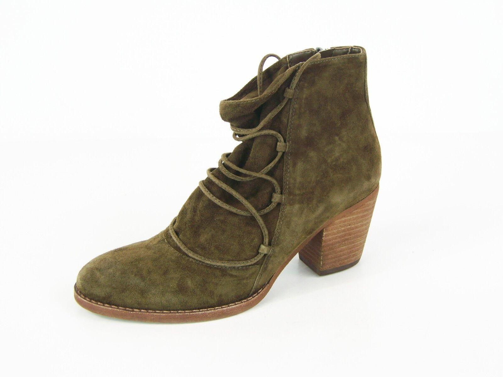 Sam Edelman Millard Ankle Boot - Deep Moss Suede - Sz 8 M