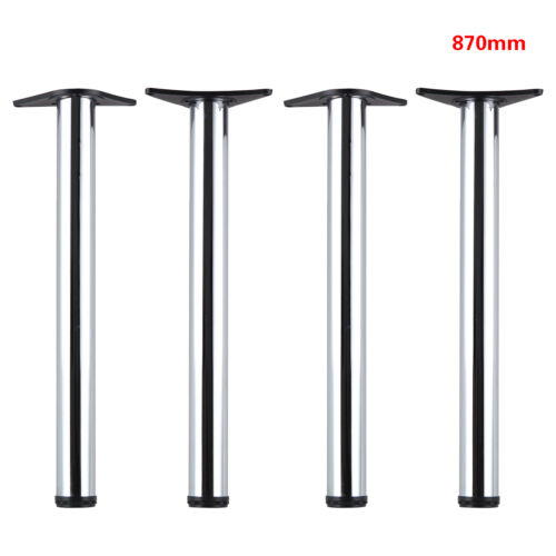 2//4Pcs Chrome Adjustable Breakfast Bar Table Legs Desk Kitchen 710//870//1100mm UK