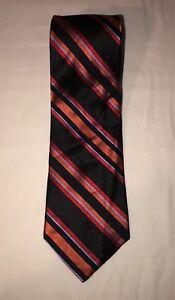 Express-Design-Studio-Mens-Multi-Color-Neck-Tie-60-034-x-3-5-034-Silk-Striped-LBB76