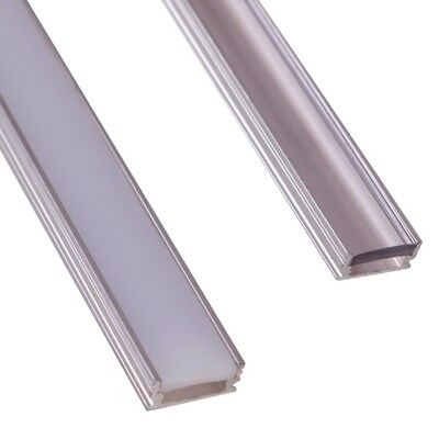 P5 Recessed LED aluminium profile and strong diffuser for floor lighting, 2m