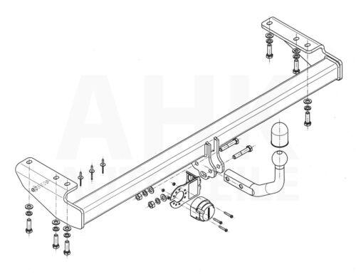 Für Volvo V70 II S Kombi 00-04 Anhängerkupplung starr+E-Satz 13p spez
