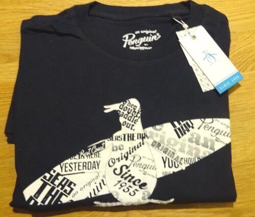 shirt ᄄᄂ M en ᄄᄂ et marine courtes Original courtes bleu coton rond T manches Penguin manches ᄄᄂ col lJTKc3F1