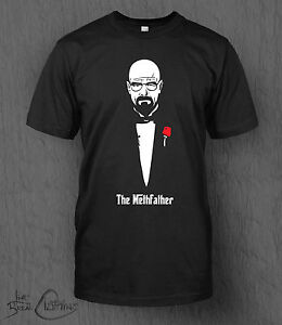 breaking bad t shirt the methfather tee men 39 s walter white. Black Bedroom Furniture Sets. Home Design Ideas