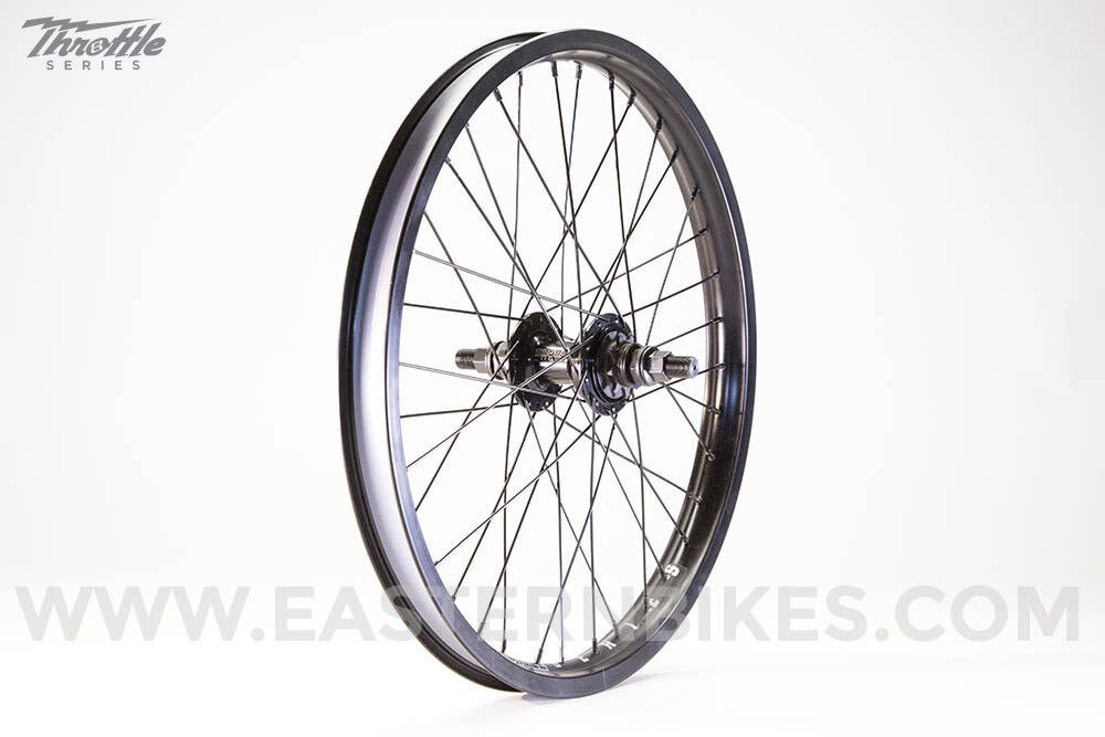 Thredtle Rear BMX Wheel 9 Tooth Driver Sealed Bearings Double Wall Alloy 14mm BK
