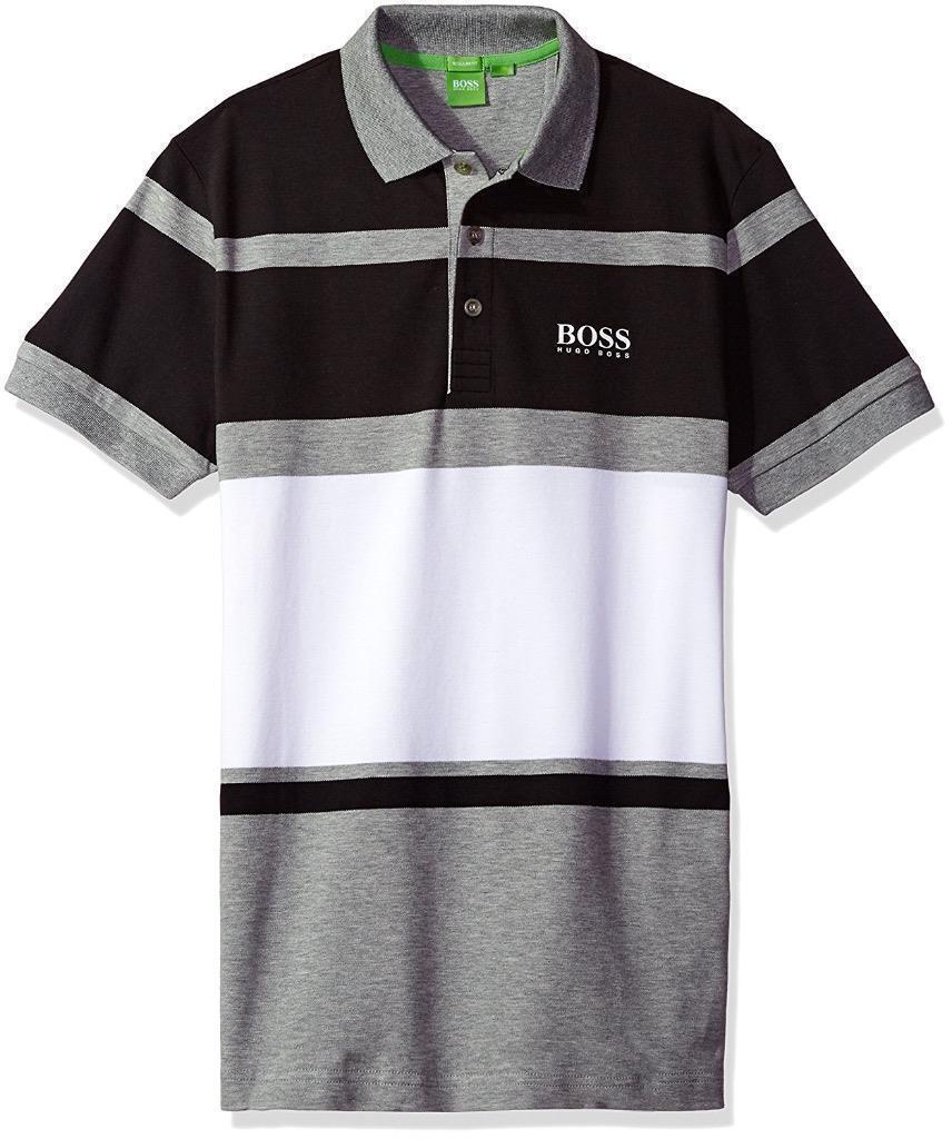 New Hugo Boss Paddy Pro 1 Men's Premium Stripped Stretch Polo Shirt 50333640