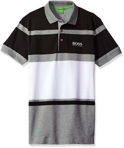b283306ba New Hugo Boss Paddy Pro 1 Men's Premium Stripped Stretch Polo Shirt ...