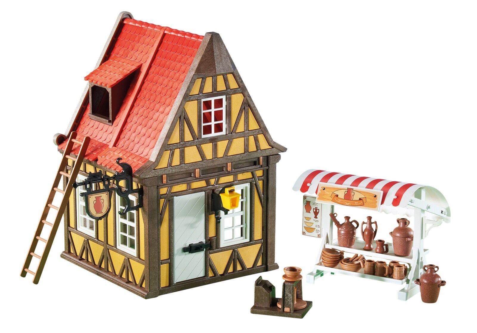 Playmobil Medieval Tienda Alfarería Edificio Para Belén Diorama