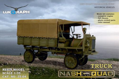 Lukgraph 1//35 scale resin kit Truck Nash Quad MPN 35-04