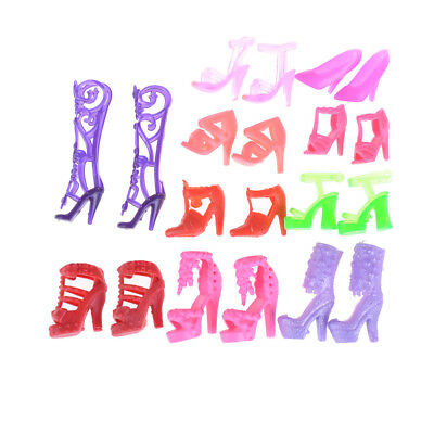 10pairs Fashion Colorful Accessories Shoes Heels Sandals For  Dolls GiftAL