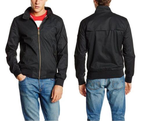 New SUPERDRY Men/'s Black M50MY004 Longhorn Harrington Bomber Jacket Coat