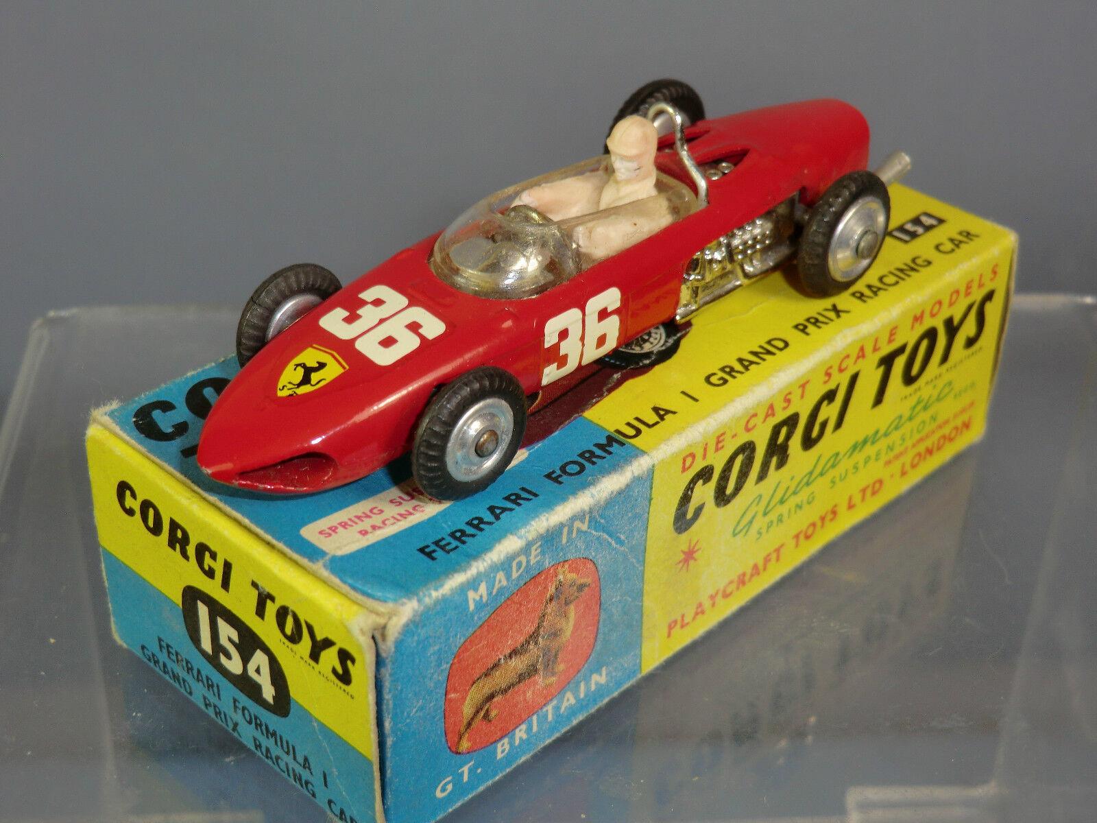 promocionales de incentivo Vintage Corgi Juguetes Modelo No.154 Ferrari Fórmula 1 Gran Premio Premio Premio MIB de coche  con 60% de descuento