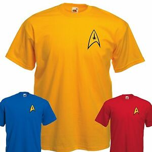 Star-Trek-Uniform-T-Shirt-Captain-Kirk-Spock-Enterprise-Starfleet-3XL-4XL-5XL