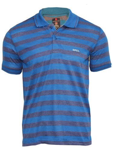 S - XXL Men/'s Striped Pique Collared Casual summer Short Sleeve Polo T Shirts