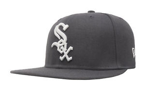 New-Era-59Fifty-Cap-Fitted-MLB-Chicago-White-Sox-Mens-Gray-Charcoal-5950-Hat