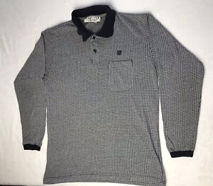 Vintage United Airlines Men's Long Sleeve Polo Shirt size Large ...