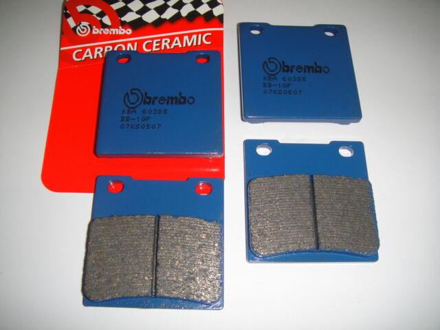 4 Plaquettes de Frein avant Brembo Bleu Carbone Ceramic Suzuki GSX Ed 550 1984