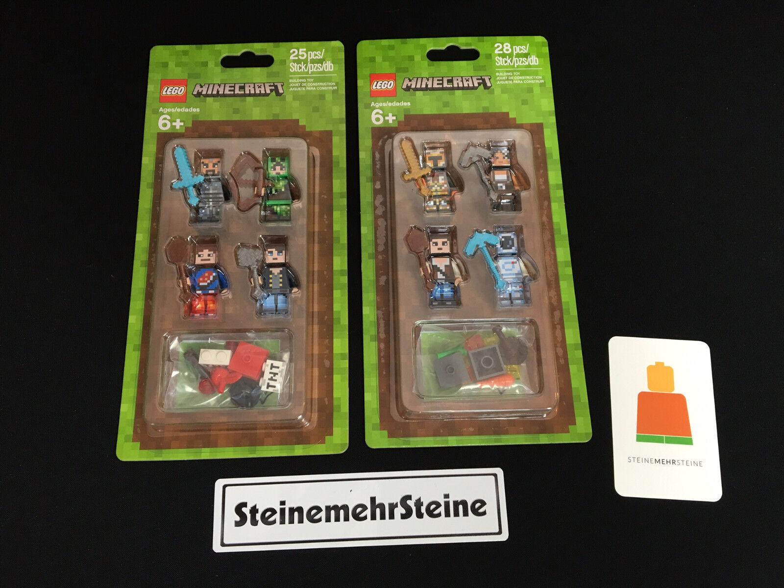 Lego 853609 8536 10 Minecraft Figures  2 x Minifig Sleeves Accessory Set nouveau nouveau  site officiel