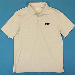 Uomo-Tcu-Horned-Frogs-Polo-Misura-Large-L-Cutter-amp-Buck-Golf-Performance