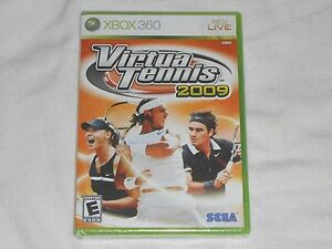 NEW-Virtua-Tennis-2009-XBox-360-Game-SEALED-Sega-virtual-tenis-09-sports-US-NTSC