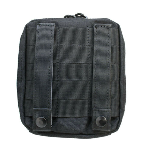 MOLLE Map Pouch Document ID Chart Clear Cover Case Carrier BLACK