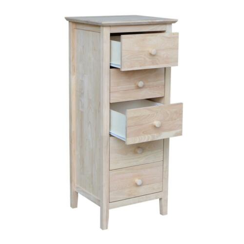 International Concepts Chest Drawer Storage Unfinished Solid Wood Furniture New