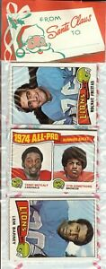 1975 Topps Football Holiday Christmas Rack Pack HOF Rookie RC Lynn Swann Poss?B1