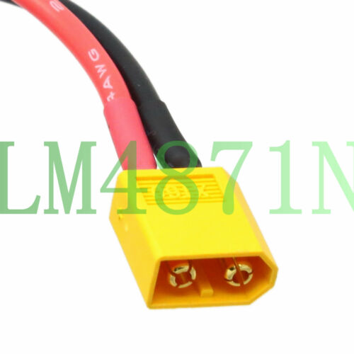 DC Power Cord 5.5 x 2.1mm plug barrel to RC XT60 male adapter 14AWG 15CM wire