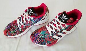 youth Size 4 Multicolor Adidas Torsion ZX Flux Athletic Sneakers ...