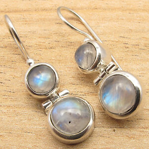 925-Silver-Plated-Real-Gemstone-Choice-Highly-Polished-Earrings-Bijoux