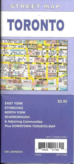 Street Map Of Toronto Ontario Canada By Gmj Maps For Sale Online Ebay