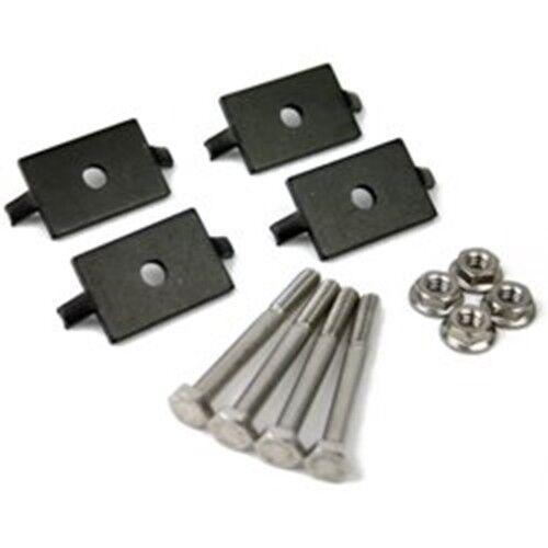 Black F,K,G XR Mid Clamp Kit, 4 Pack Ironridge