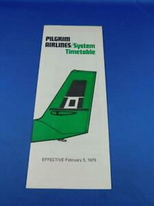 PILGRIM-AIRLINES-SYSTEM-TIMETABLE-FEBRUARY-1979-NEW-SERVICE-PROVIDENCE-RI