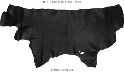 Schrumpfleder Schwarz 2,5 mm Dick Motorrad Echt Rindleder Black Leather LARP