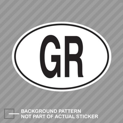 GR Greece Country Code Oval Sticker Decal Vinyl Greek
