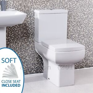 Daisy Lou Bathroom Wc Toilet Soft Close Seat Close Coupled