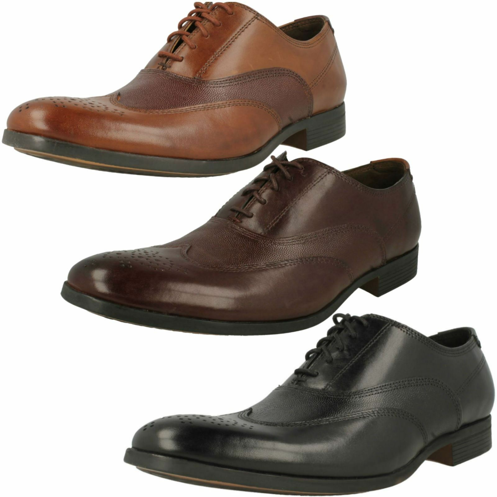 Uomo Clarks Lace-Up Brogue Wing Detailed Schuhes Gilmore Wing Brogue 506a86