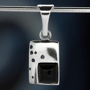 Onyx-Silber-925-Anhaenger-Sterlingsilber-Damen-Schmuck-A0576