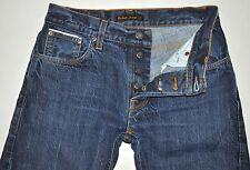 "Nudie Jeans Men's Grim Tim Dry SELVAGE Jeans Actual: Waist 30"" Length 26"" Short"