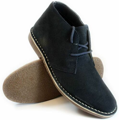 Red Tape Gobi Navy Lace Up Desert Boots Suede Mens
