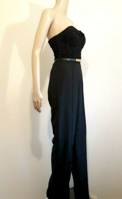 f356c637e99 TED BAKER KARLINA BLACK BUSTIER JUMPSUIT ALL IN ONE BNWT UK10 TED 2 US 6 RRP