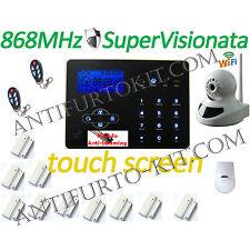 Kit Allarme 868Mhz Anti-Jamming Telecamera P2P Centralina Antifurto GSM sms Casa