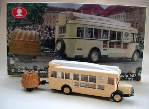 """NAG Bus publicitaire Docteur Oetker + rqe """"soufflet - Epoche - Echelle 1/87 - HO"""