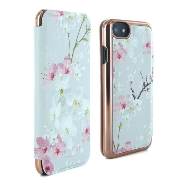 OFFICIAL Ted Baker BROOK Mirror Case FITS iPhone 7 & 6/6S Oriental Blossom