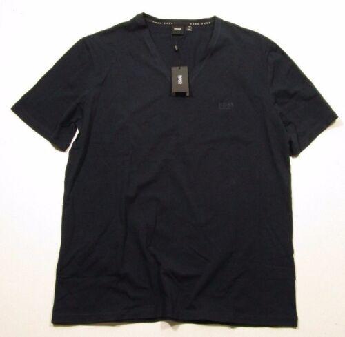 Hugo Boss Sleepwear Men/'s Cotton Stretch V-Neck Navy Blue T-Shirt