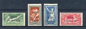 FRENCH COLONY = SYRIA YVERT#122/125 CV € 160 * MH VF 1924 OLYMPICS